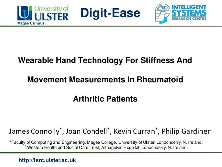 Digit-Ease   Magee Campus    Wearable Hand Technology For Stiffness And         Movement Measurements In Rheumatoid       ...
