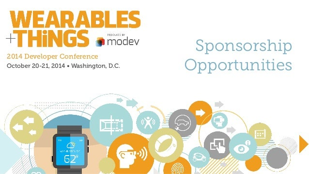 2014 Developer Conference October 20-21, 2014 • Washington, D.C. Sponsorship Opportunities