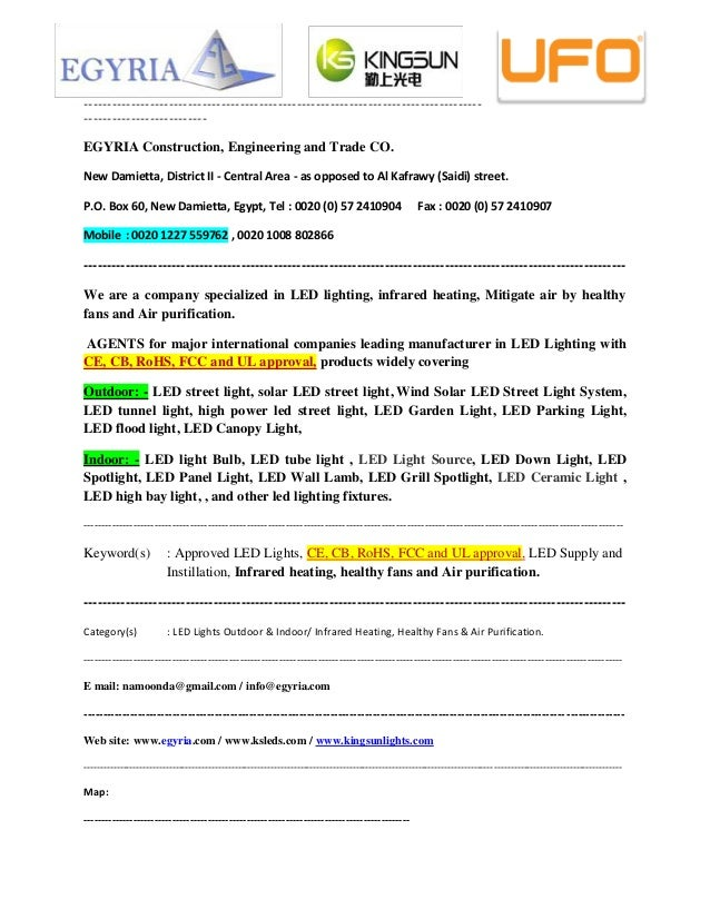 We Are A Company Specialized In Led Lighting