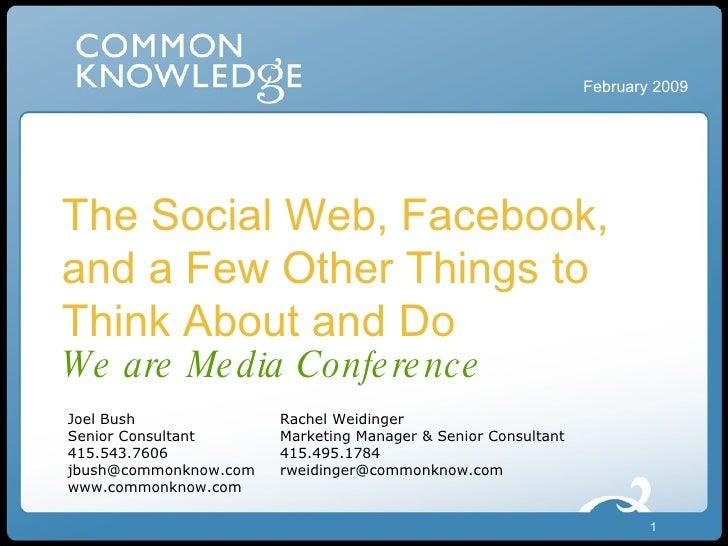 Online Social Networks for Nonprofits We Are Media Presentation 2009