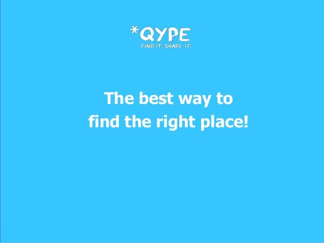 The best way tofind the right place!