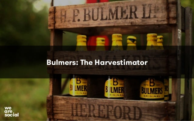 Bulmers: The Harvestimator  we are social