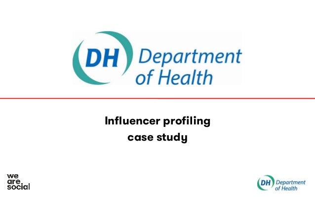 We Are Social Department of Health influencer profiling case study