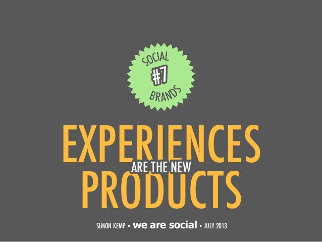 Social Brands: Experiences Are The New Products