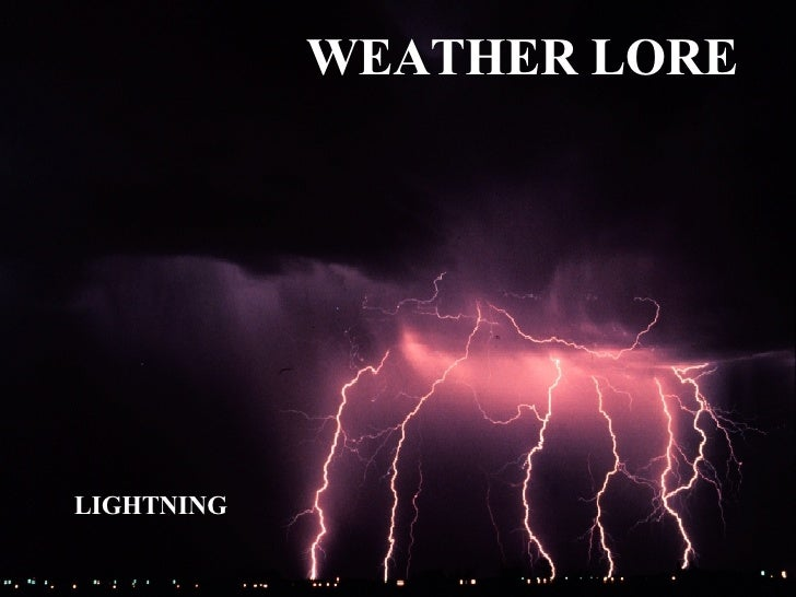 Weather   Lightning Lore
