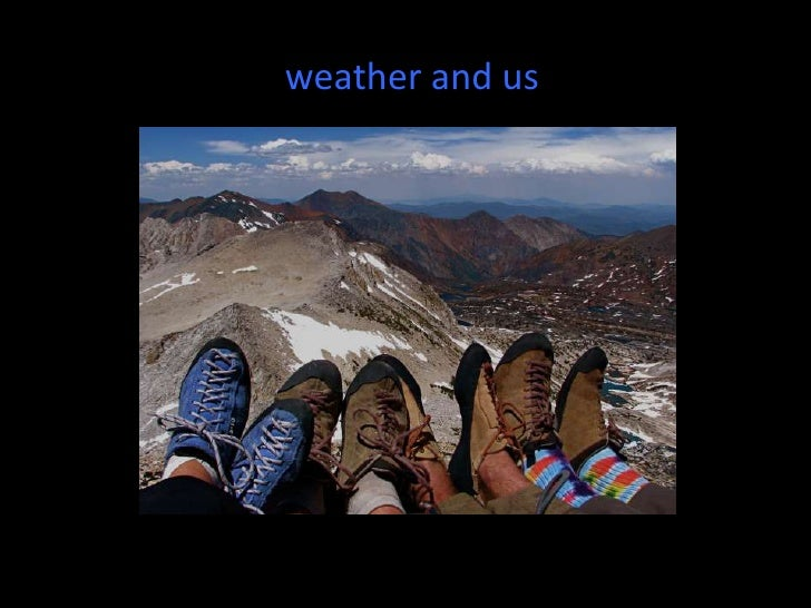 weather and us<br />