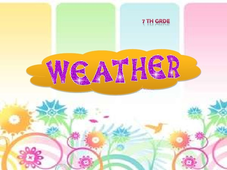 Weather 7th grade