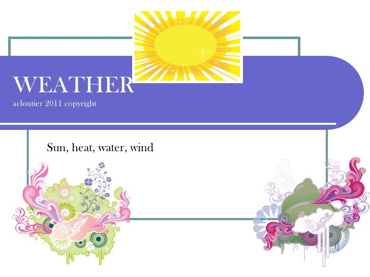 Meteorology -Weather acloutier 2011 power point