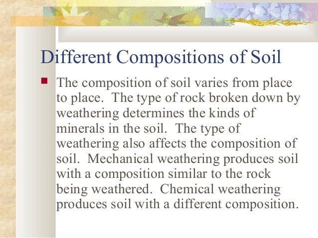 Weathering and soil formation for Mineral constituents of soil