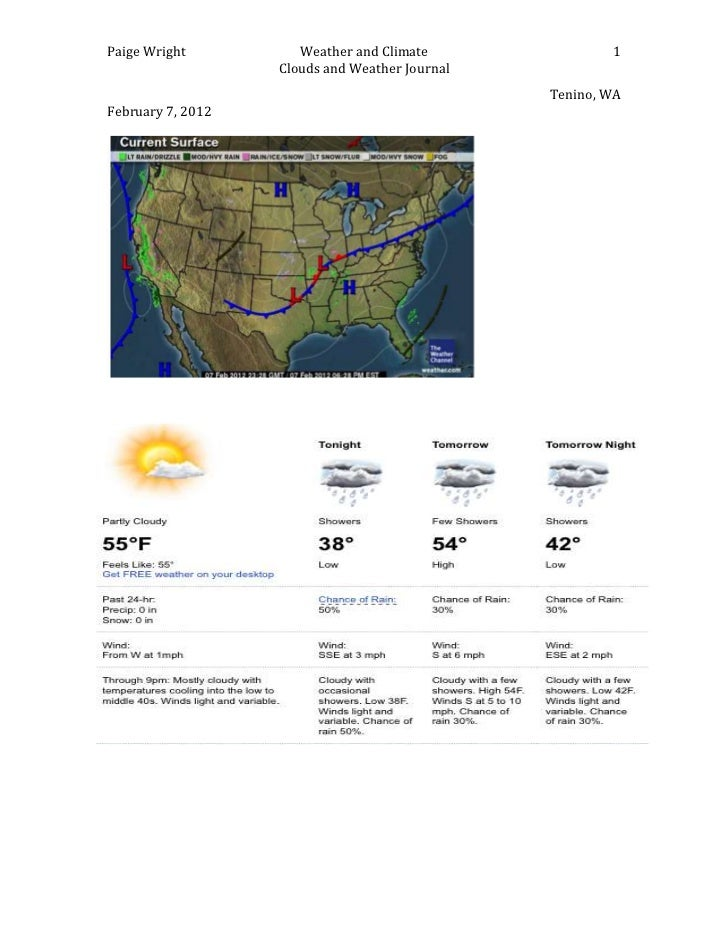 Paige Wright          Weather and Climate               1                   Clouds and Weather Journal                    ...