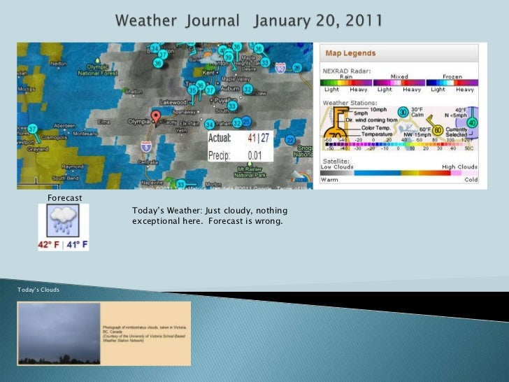 Weather  journal   february 13,2011