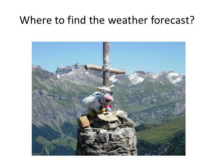 Weather presentation