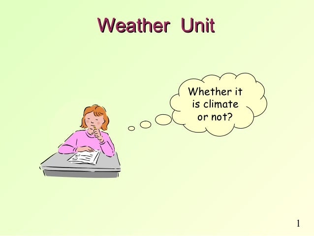 1Weather UnitWeather UnitWhether itis climateor not?