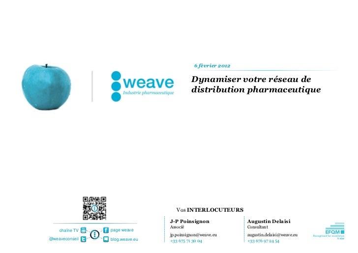 Weave BT - Dynamiser votre reseau de distribution secteur pharmaceutique