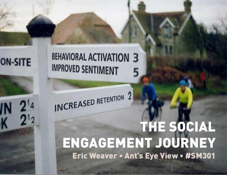 BEYONDERIC WEAVER • @WEAVE                THE SOCIAL       ENGAGEMENT JOURNEY         Eric Weaver • Ant's Eye View • #SM301