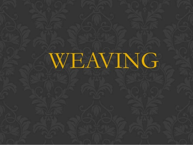 Weaving ( cordillera and region 1)