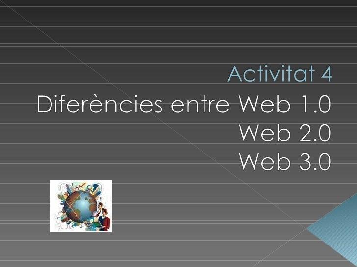 Web 1.0 2.0 3.0 Activitat 4