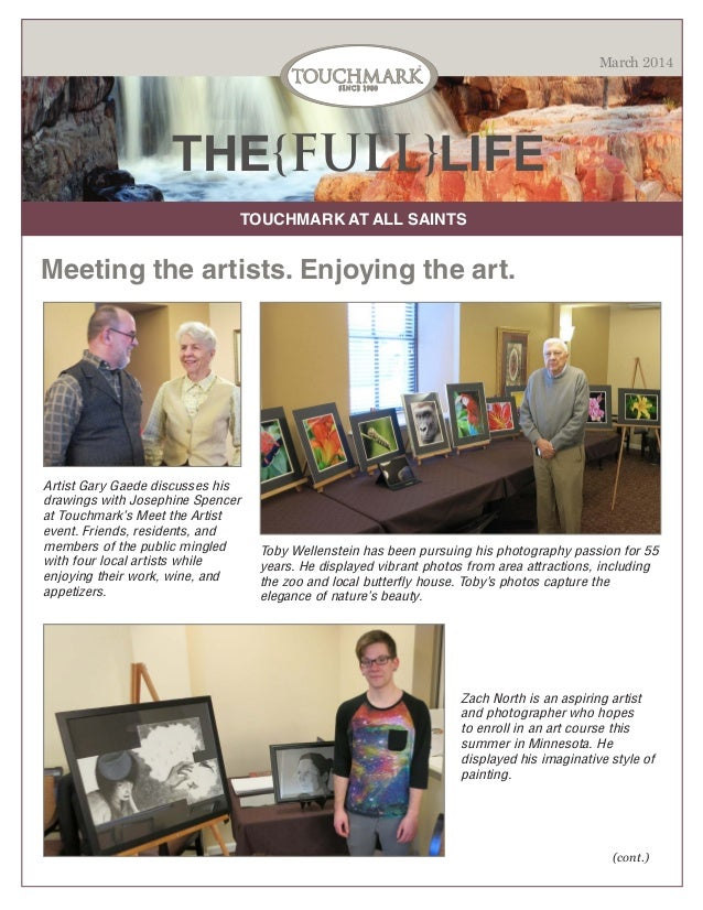 Touchmark at All Saints - March 2014 Newsletter