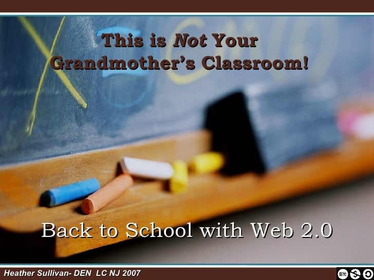 This is  Not  Your Grandmother's Classroom! Back to School with Web 2.0 Heather Sullivan- DEN  LC NJ 2007