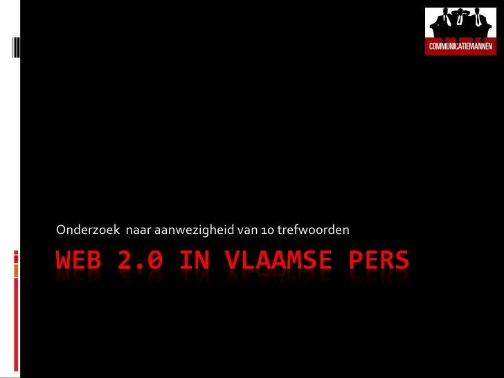 Web 2.0 in Vlaamse media