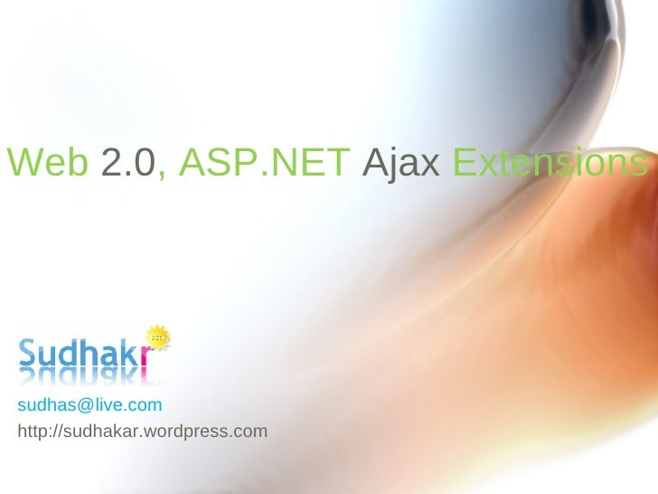 Web 2.0 and ASP.NET Ajax