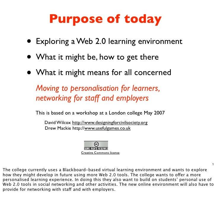 Web 2.0 and e-elearning