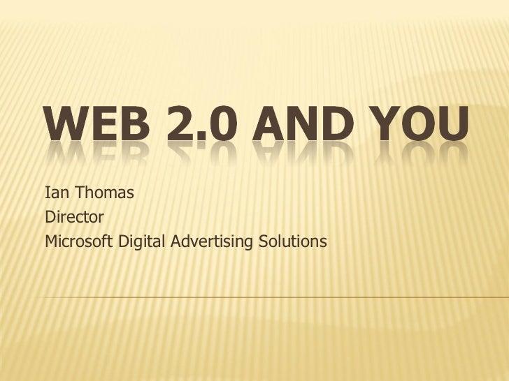 Ian Thomas Director Microsoft Digital Advertising Solutions