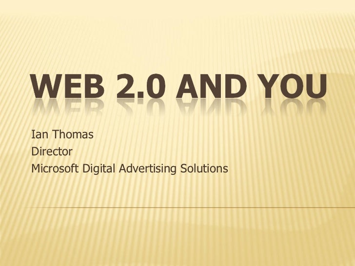 Web 2.0 and you