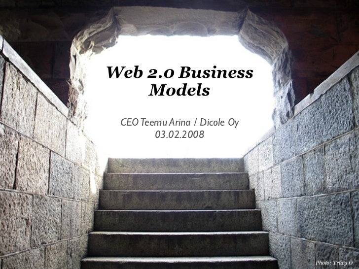 Web 20 Business Models