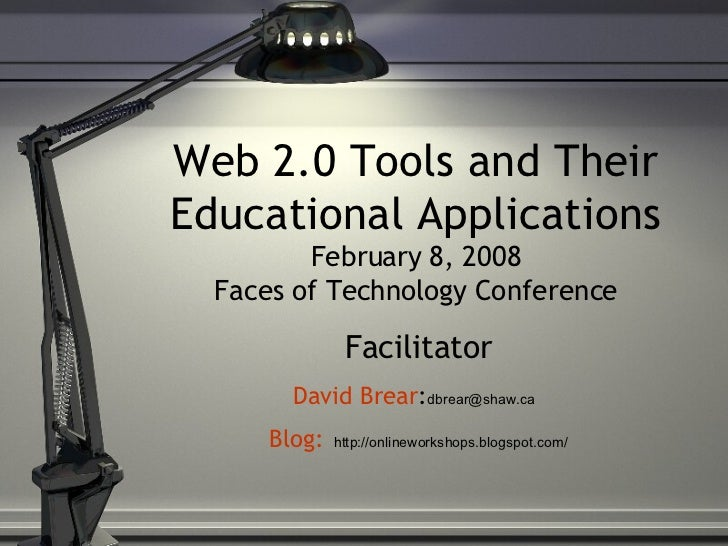 Web 2.0 Tools and Their Educational Applications