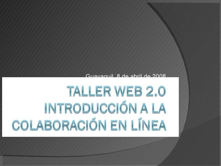 Web 2.0 Introducción a La Colaboración en Línea