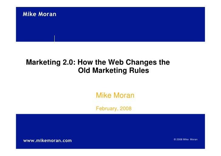 Web 2.0 Mike Moran