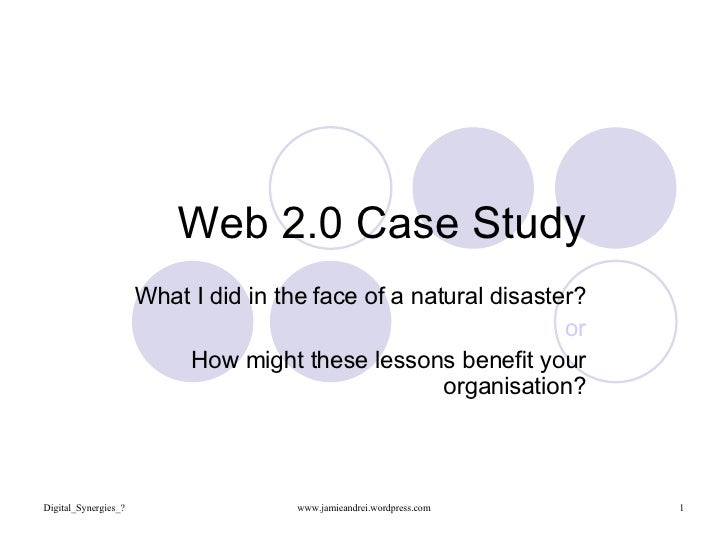 Web 2.0 NSW Floods Case Study