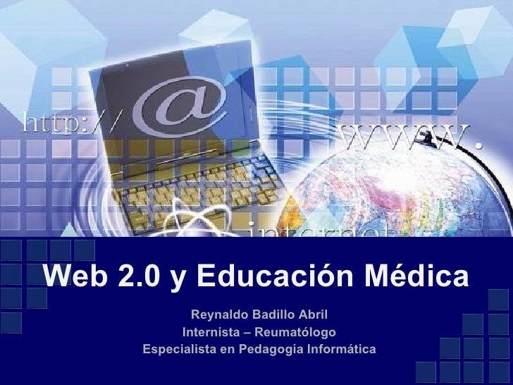 Web 2.0 y  Educación Médica