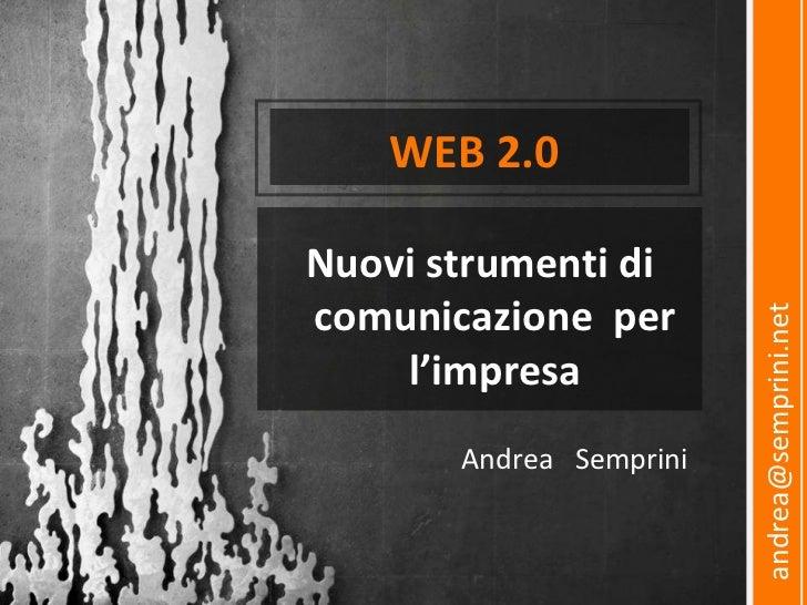 Web 2.0 Introduzione ai Social Network