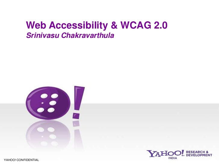 Web Accessibility and WCAG