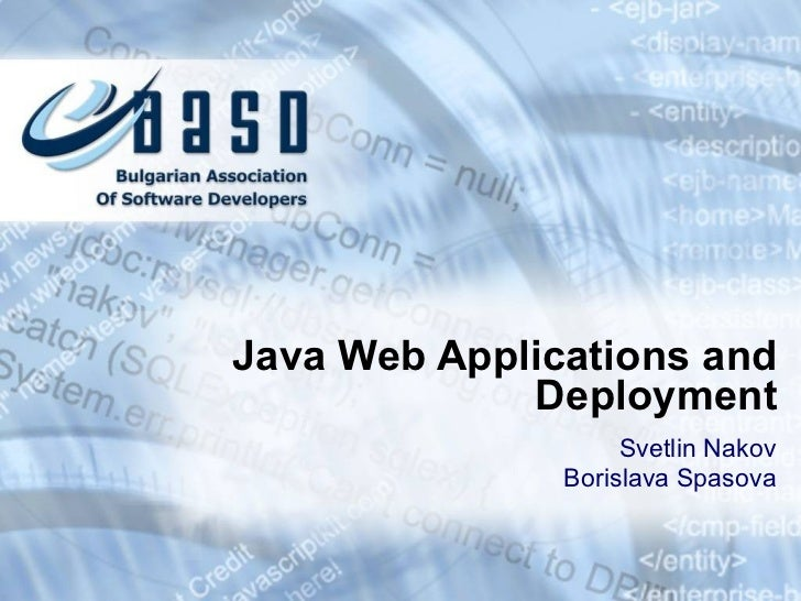 Web Applications and Deployment
