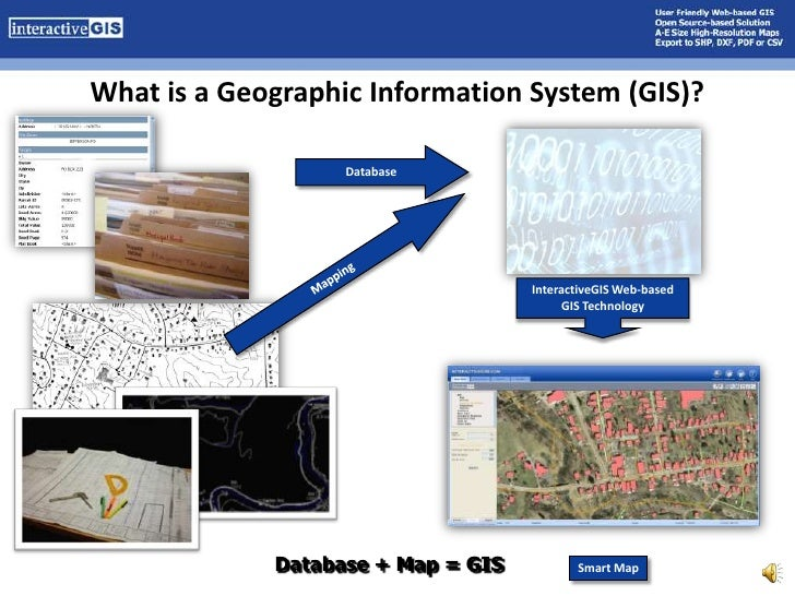 What is a Geographic Information System (GIS)?<br />Database<br />Mapping<br />InteractiveGIS Web-based GIS Technology<br ...