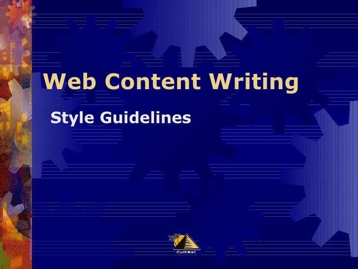 Web Content Writing Style Guidelines