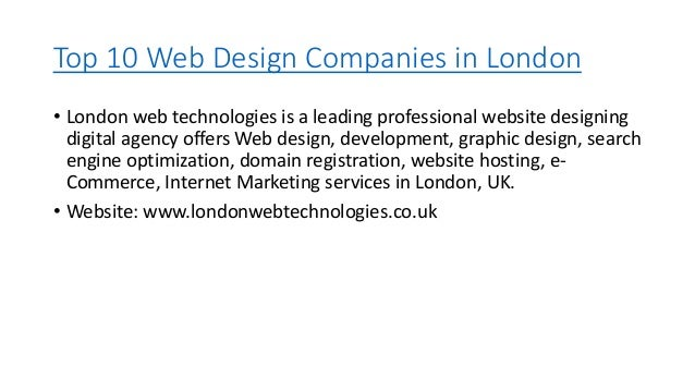 Top 10 Web Design Companies In London Uk
