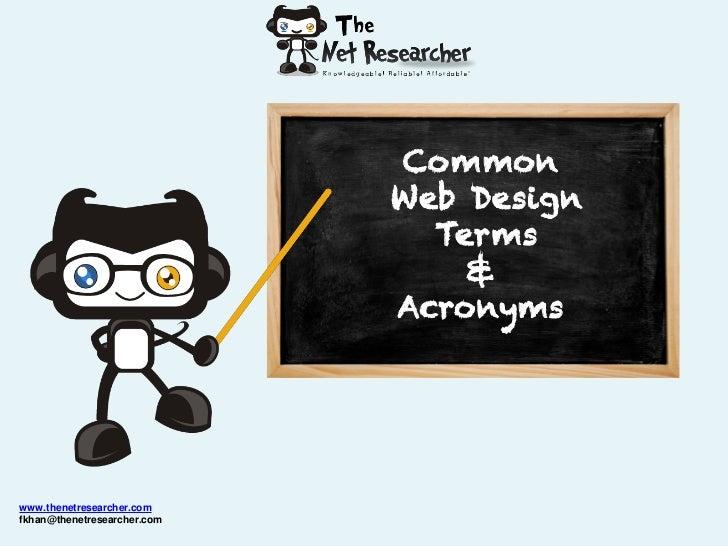 Web Design Terms