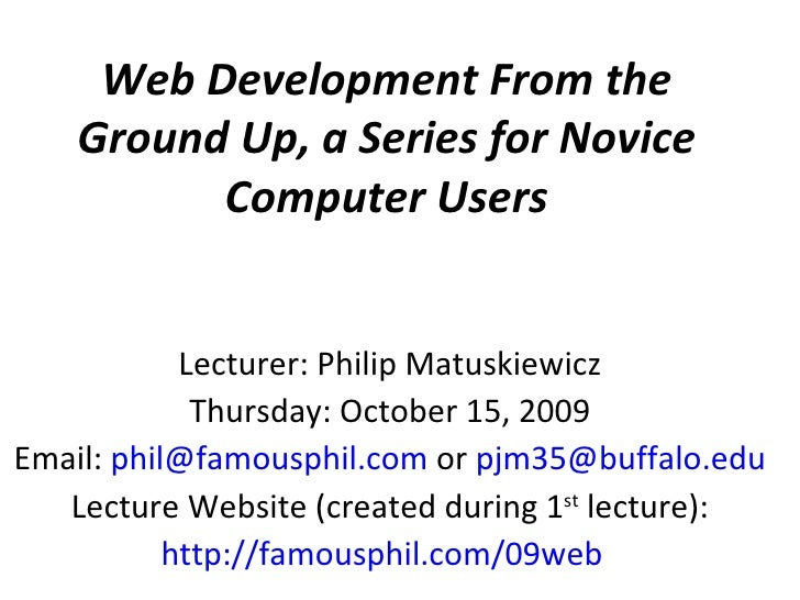 Web Development From the Ground Up, a Series for Novice ...