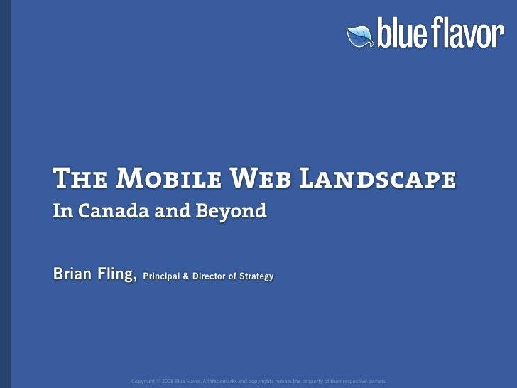 Web Directions North: The Mobile Web Landscape