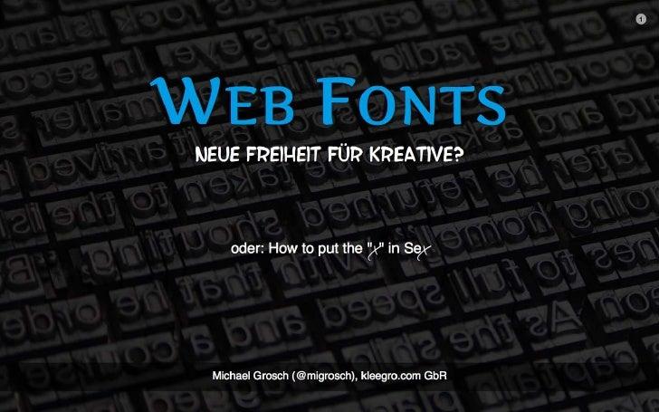 Web Fonts (1. webEdition-Benutzer-Konferenz)