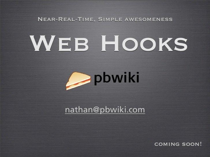 Web Hooks On Pbwiki