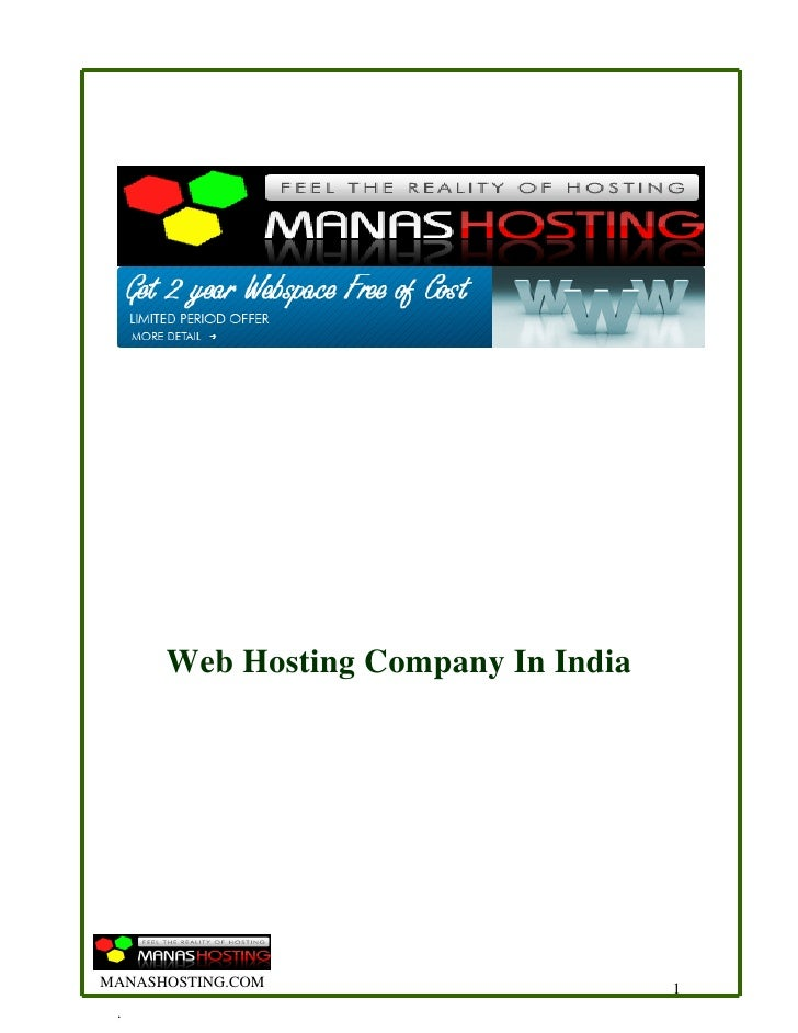 Web Hosting Company In India     MANASHOSTING.COM                     1  .