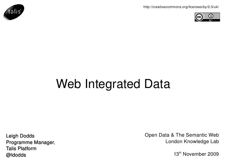 Web Integrated Data