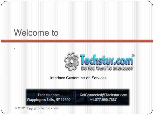 Welcome to.Interface Customization Services© 2012 Copyright - Techstur.com