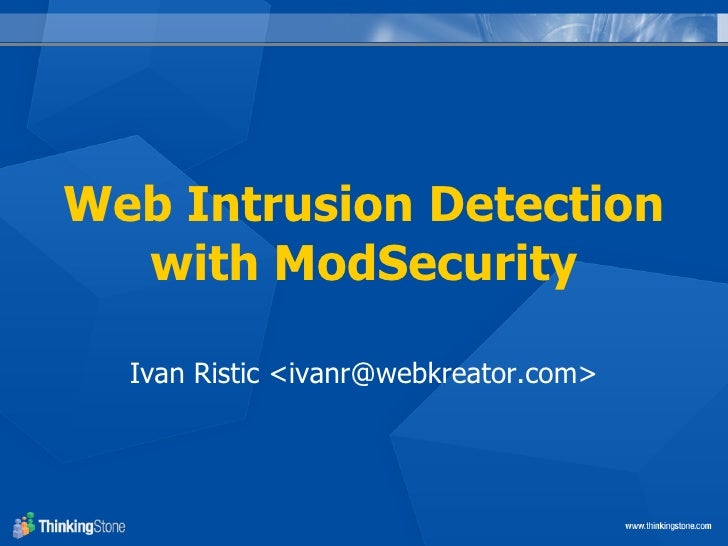 Web Intrusion Detection