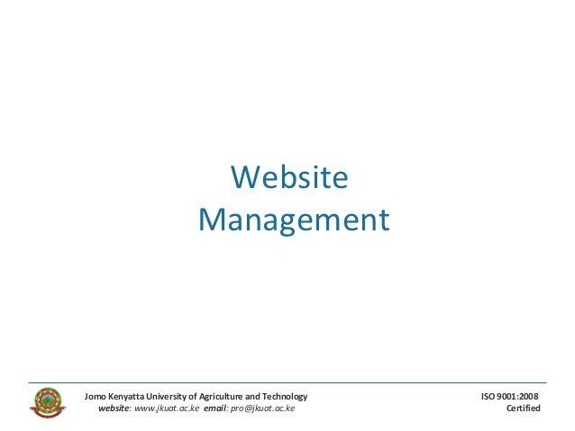 Web management - Wordpress
